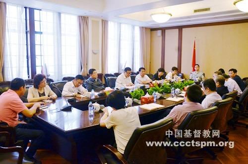 全国政协民宗委主任王伟光一行访问基督教全国两会