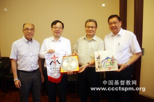 基督教香港崇真会代表团一行访问我会
