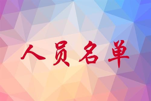 中国基督教协会第八届会长、副会长、总干事名单
