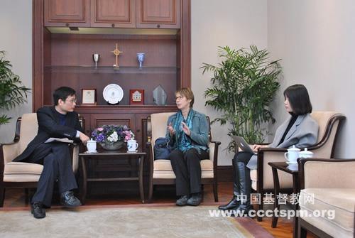 德国新教教会普世干事到访中国基督教两会