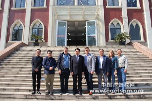 """""""中国伙伴""""代表团访问江苏神学院"""