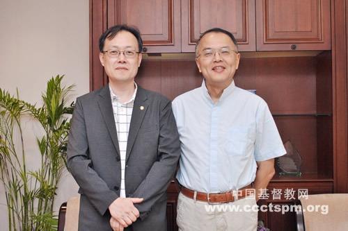 沈学彬牧师接待韩国汝矣岛纯福音教会来访