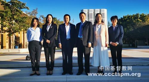 中国基督教代表团访美回国