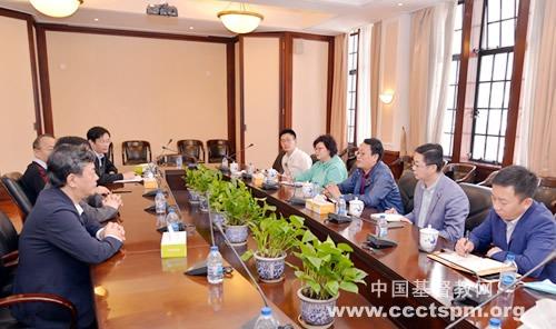 上海市民宗局基督教工作处到访基督教全国两会
