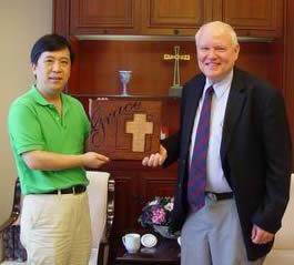 美国国际路德会平信徒联盟国际部主任和亚裔部总干事访问全国两会