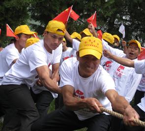 欢度彝族火把节 百人祈祷迎奥运