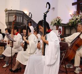 山东省青岛市基督教两会举行圣诗感恩赞美会