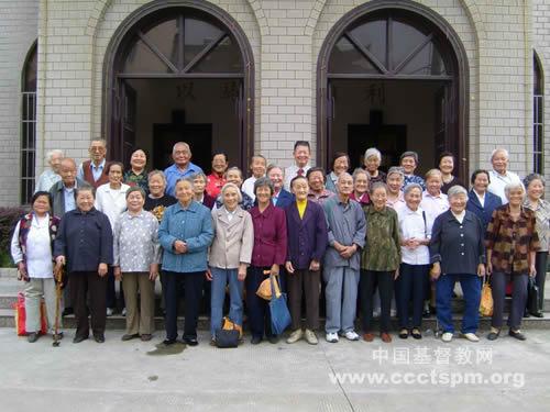 江苏昆山市基督教堂举行敬老聚会